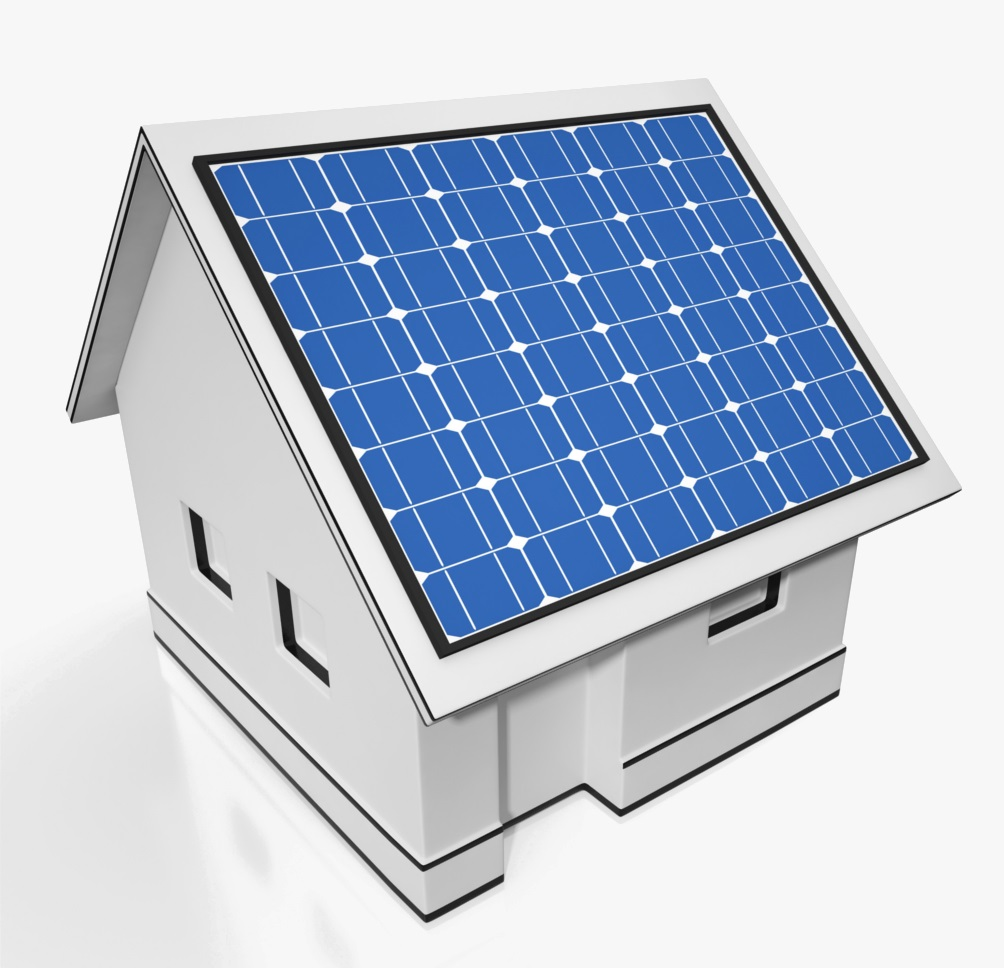 House With Solar Panels Showing Sun Electricity Or Power